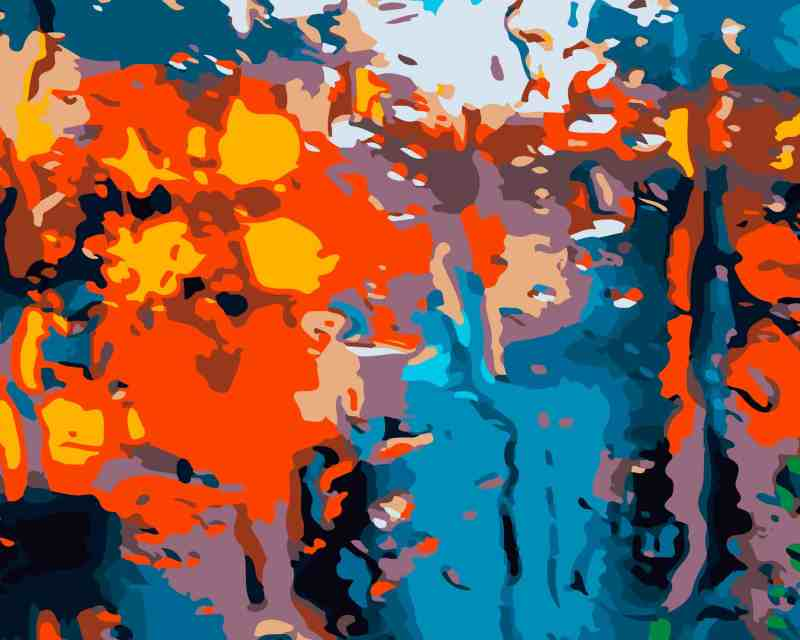 mark lariviere painter and photographer abstract print on metal from City Rain series