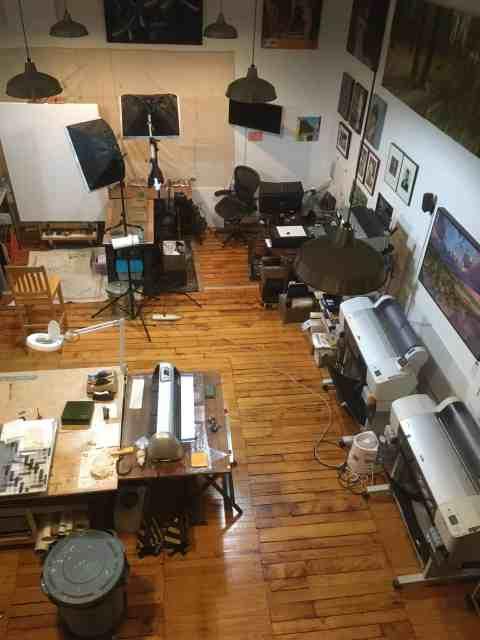 Mark Laurence LaRiviere's studio